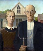g 20 American Gothic Grant Wood